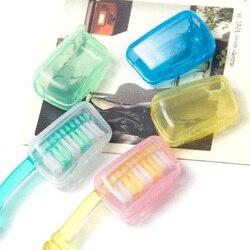 10 قطع أسنان القبعات السفر إمدادات رأس فرشاة أسنان الغطاء الواقي مجموعات المنزل السفر الضروري 7z-ca133