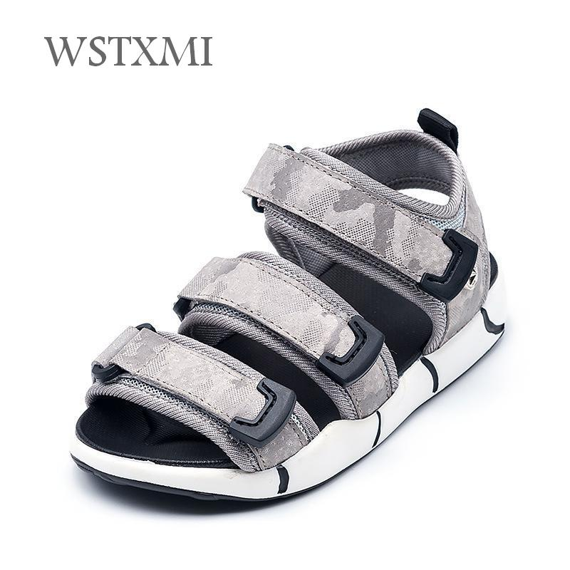 Summer Boys Sandals for Kids Beach Shoes Cloth Design Soft Breathable Outdoor Sports Close Toe Children Flats Sandals Size 26-37 ...