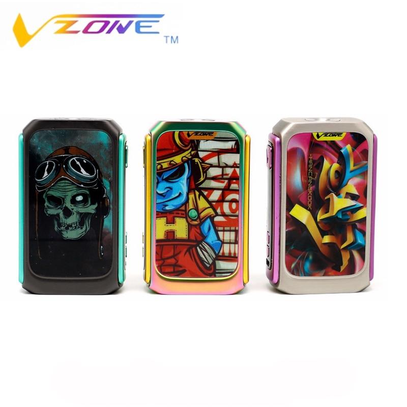 цена Vzone Electronic cigarettes Graffiti 220W TC/KA Box Mod By Dual 18650 Batteries Norm/Soft/Hard/User Mode Vape Vaporizer VS SMOK