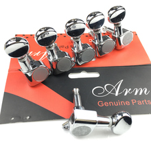 Electric Guitar Machine Heads Tuners Mini Oval Tuner for ST TL Silver Tuning Pegs J-05 Chrome Made In Korea