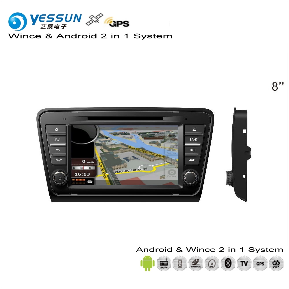 YESSUN For Skoda Octavia MK3 2013~2014 Car Android Multimedia Radio Player GPS Navi Map Navigation Audio Video Stereo No CD DVD yessun for kia rio 2017 2018 android car navigation gps hd touch screen audio video radio stereo multimedia player no cd dvd