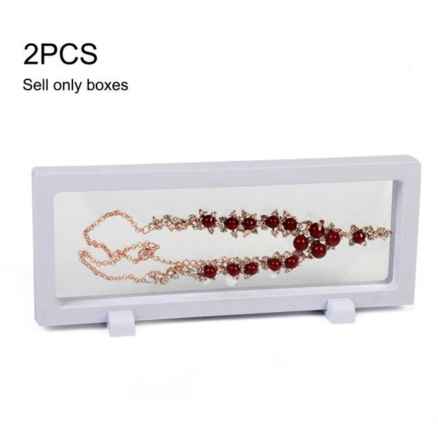 2 Pcs 23*9cm 3D Mode Rahmen Shadow Box Halskette Schmuck Display Leere Münze Rahmen Uhr Box Stift transparent Suspension Boxs