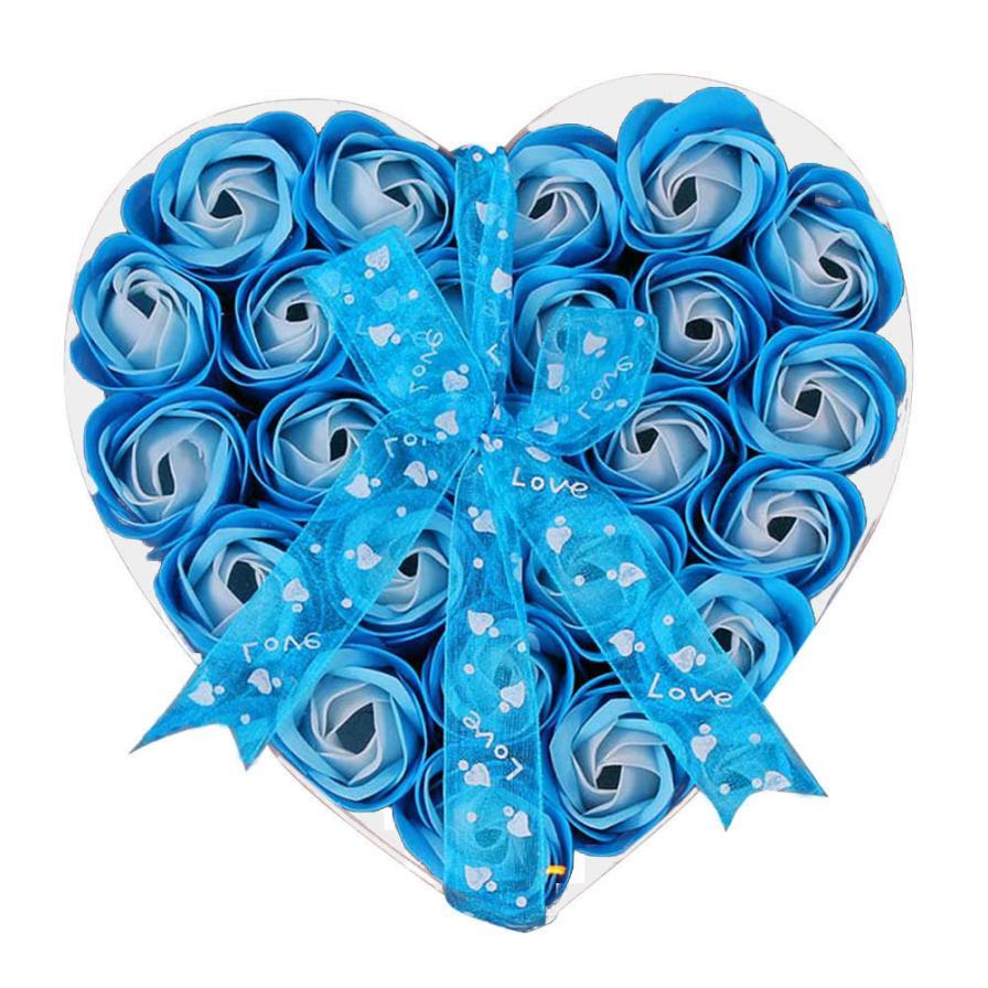 Rose-Flower-Soap Wedding-Decoration Gift Heart Bath W16 30-24pcs Scented Body-Petal Romantic