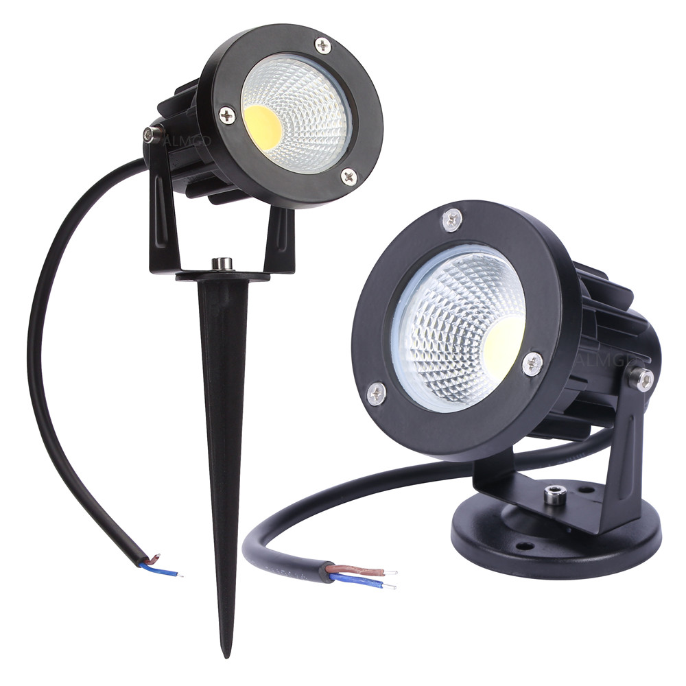 12V Lámpara de jardín al aire libre LED Luz del césped 5W 7W 10W COB LED Lámpara de Spike Impermeable IP65 Pond Path Paisaje Spot luces bombillas