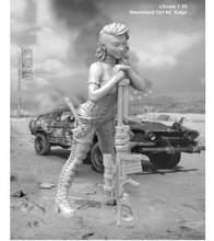 1/35 deserto Ragazza di fantasia non comprendono auto giocattolo Resina Modello In Miniatura Kit unassembly Non Verniciata