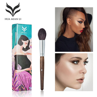 HUAMIANLI Goat Hair Professional Highlighter Brush High Quality Soft Highlighter Brush Face Makeup Cosmetic Tools Gift
