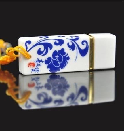 Rectangle Ceramics Small Dragon 2.0 Usb Flash Drive 128GB 64GB Pendrive Flash USB Memory Stick Pen Drive 512GB 32GB 16GB Gift