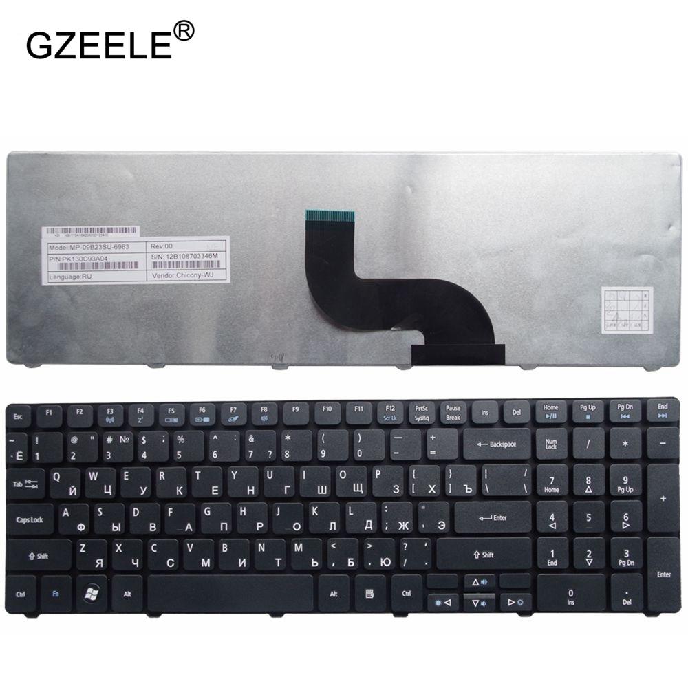 GZEELE Russian Keyboard For Packard Bell NE71B Q5WTC Z5WT1 V5WT2 Q5WV1 Z5WT3 Z5WTC F4036 LE EG70 EG70BZ Laptop RU Black