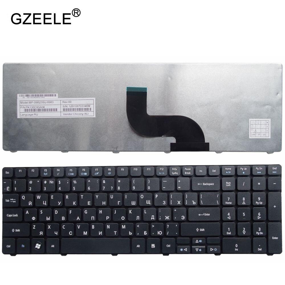 GZEELE clavier Russe Pour Packard Bell NE71B Q5WTC Z5WT1 V5WT2 Q5WV1 Z5WT3 Z5WTC F4036 DU EG70 EG70BZ Portable RU noir