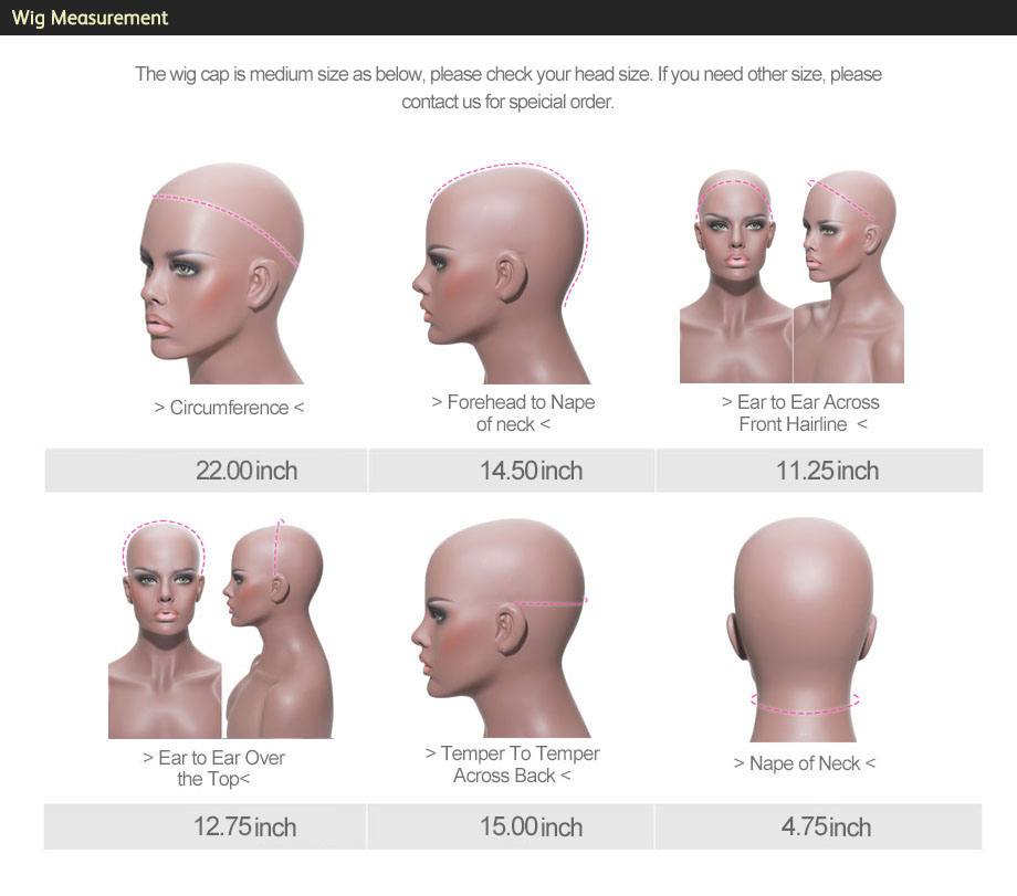 4 wig measurement