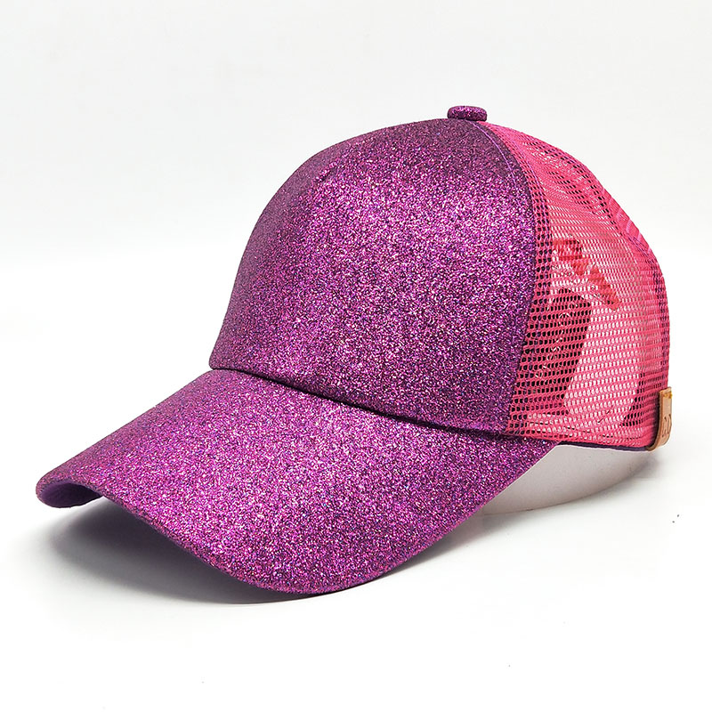 2018 CC Glitter Ponytail Baseball Cap Messy Bun Dad Hats For Women Sequins Shine Summer Mesh Trucker Hat Snapback Hip Hop Caps flat baseball cap fitted snapback hats for women summer mesh hip hop caps men brand quick dry dad hat bone trucker gorras