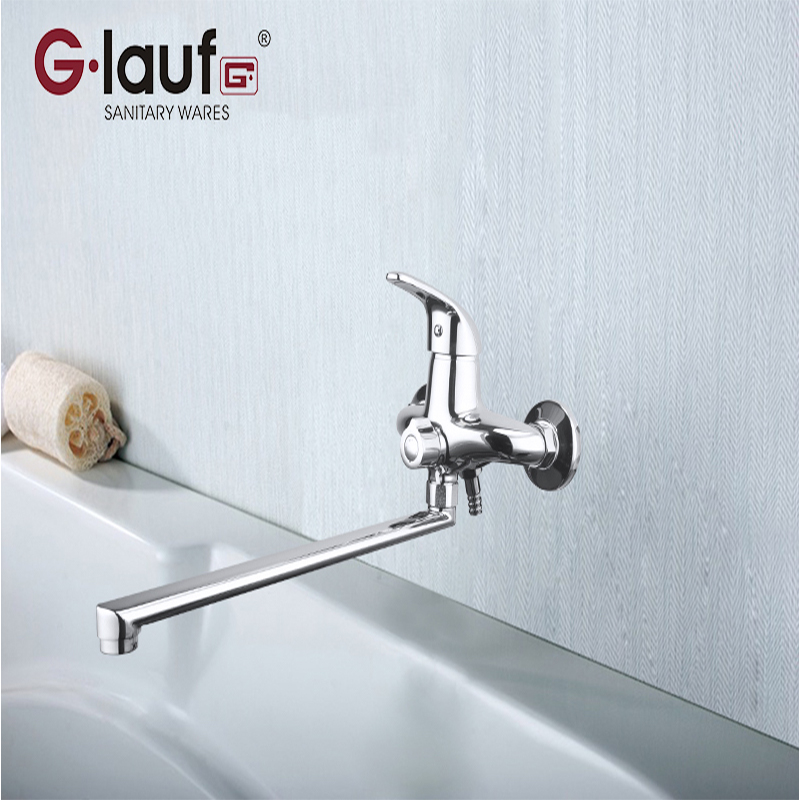 Glauf Rusia KLO7-A149 35 cm acero placa de cerámica carrete sola manija agua fría y caliente montado en la pared contemporáneo grifos de baño