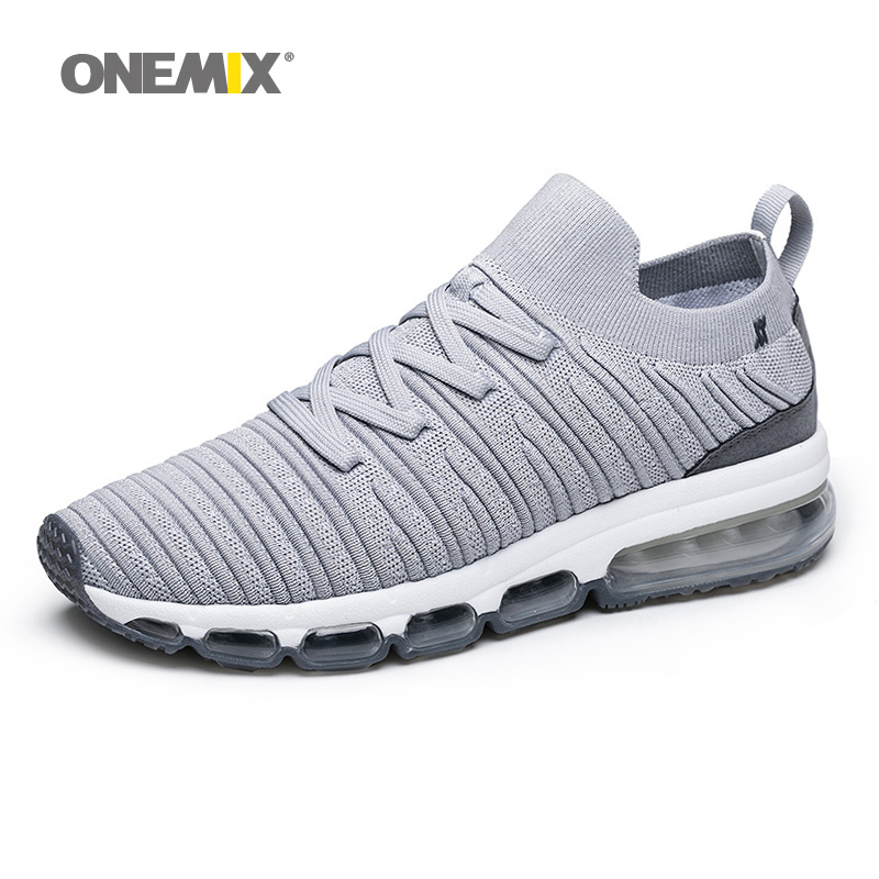 ONEMIX Knit men air running jogging shoes light cool outdoor for walking big size 39 47