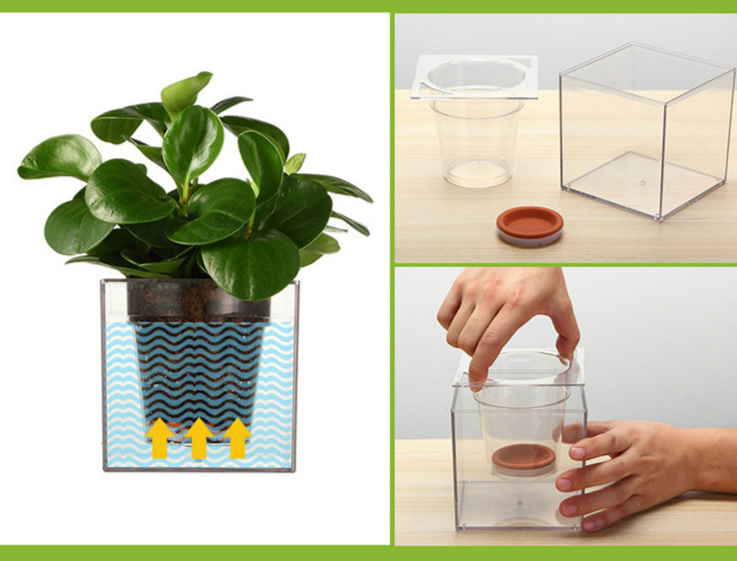 Aliexpress.com : Buy 1Piece Clear Tube Plant Pot / Flower Pot Self Watering  Planter Fish Tank Creative Symbiotic System from Reliable tank china  suppliers ...