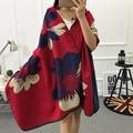 2017 Designer Character Large Flower Cashmere Women Winter Scarf Elegant Wool Wraps,Brand WinterFemale Scarf Shawls Pashmina