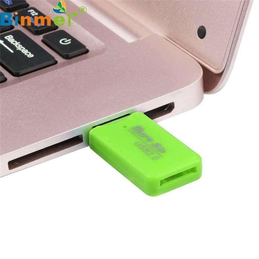 Preço de fábrica Venda Quente de Alta Velocidade Mini USB 2.0 Micro SD TF T-Flash Cartão de Memória Adaptador Leitor Transporte da gota Boa qualidade