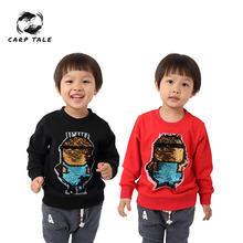 2019 spring and autumn new boys girls cartoon image long-sleeved baby cotton shirt male girl