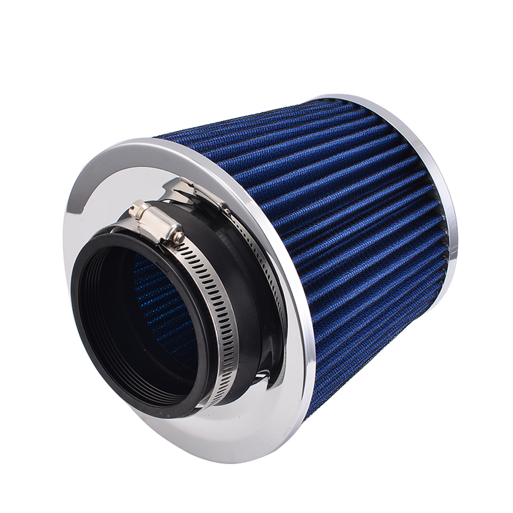 1 Pcs Blue Air Intakes Filter 75mm Round Air Intake Systems Filter Part