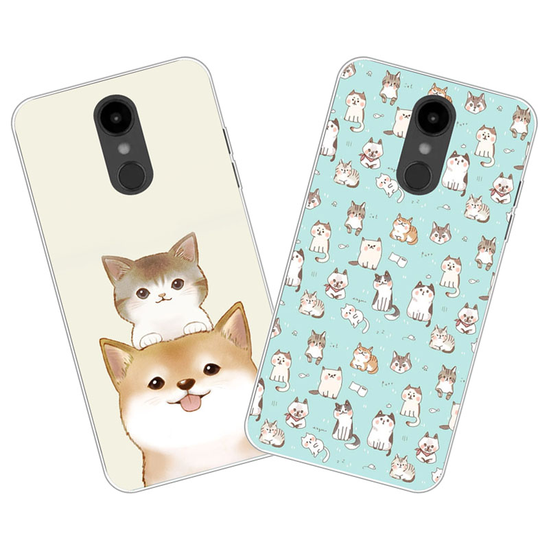 buy online 44d9a 43c79 LG Aristo 2 Case,Silicon Cute cat cartoon Painting Soft TPU Back Cover for  LG Aristo 2 Phone protect cases shell