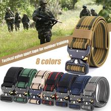 New Style Top-quality Tactical Military Belt Mens Outdoor Sports Thick Waist Support