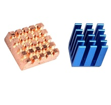 1 Sets Aluminium Copper Heatsink set for ALL Raspberry Pi Models 3 2 B+ (Set contains one Aluminium and one Copper heatsinks)