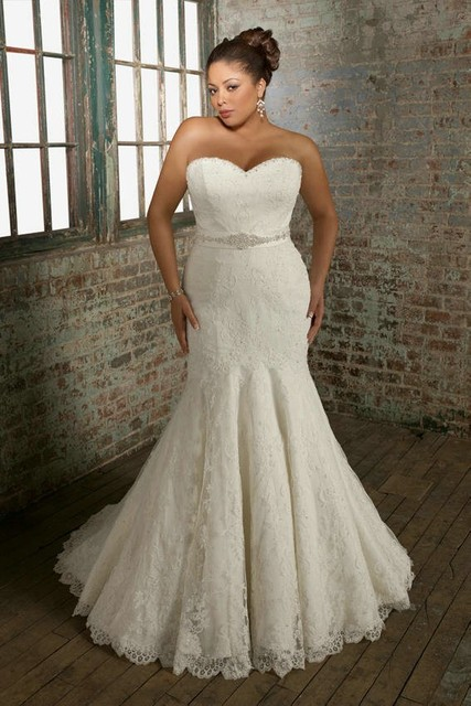 Plus Size Wedding Dresses The Curvy Pear Shaped Backless Mermaid Bridal Gowns
