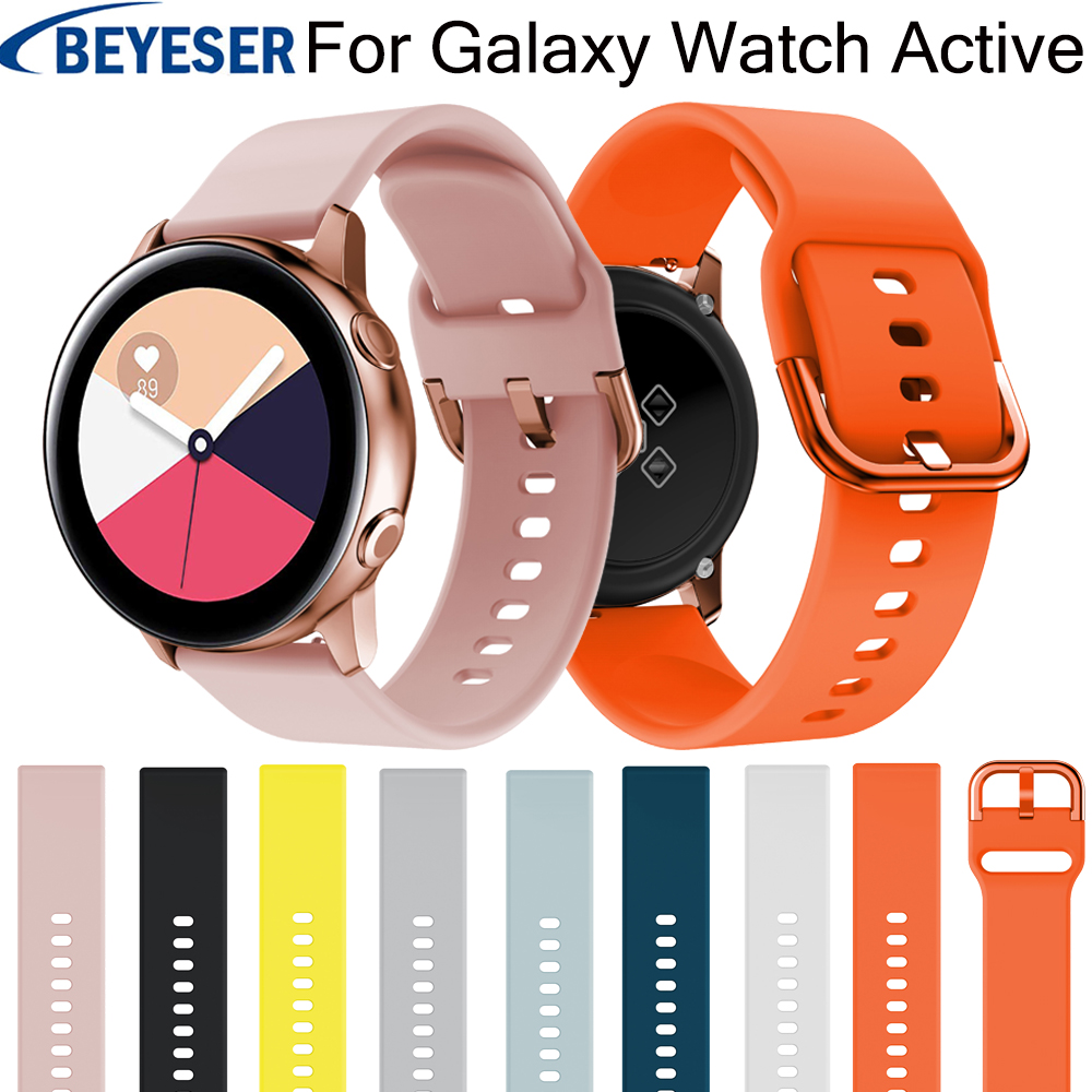 20mm Silicone Watchbands For Samsung Galaxy Watch Active 2 Bracelet Smart Sport Strap For Samsung Galaxy Watch 42mm Watch Strap