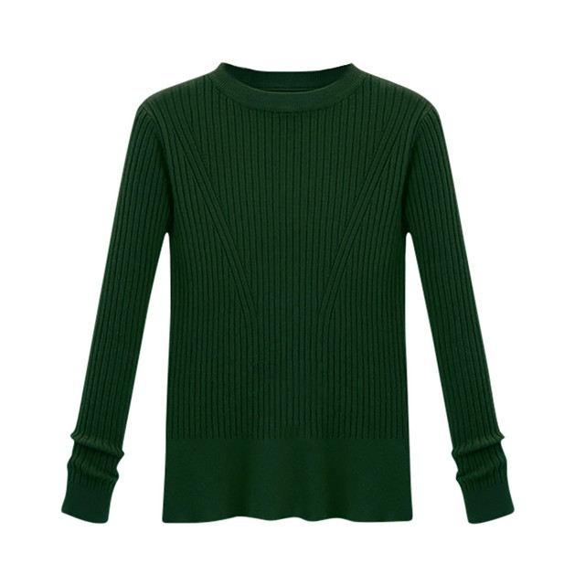 4fa2c9a45f972 Multiple Colour Women s Long Sleeve Solid Knitting Shirt Casual Loose  Cotton Tops T-Shirt plus