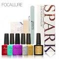 FOCALLURE Faísca Nail Art Manicure UV Gel Unha Polonês Conjunto & kit top coat polonês conjunto kit de unhas ferramentas para diy uso
