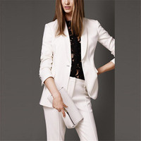 Made Hot Selling New Arrival White One Button Women Suits High Quality Fashion Elegant Sexy Business Suits Handsome