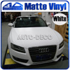 30m Roll High Quality Matte Vinyl Car Wrap Film Foil 17colors Option White Red Blue Black