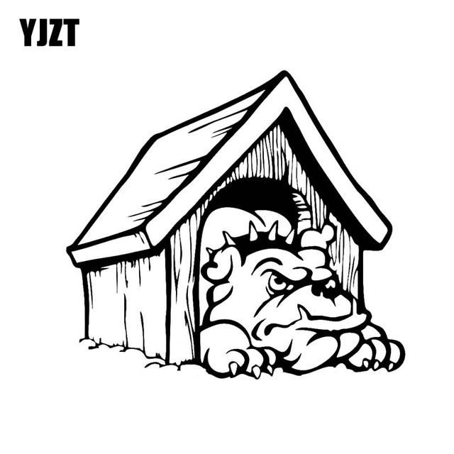 Yjzt 18cm16 2cm Ponder On Dog House Vinyl Car Sticker Decals Black
