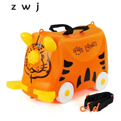 Children Travel Boarding box Luggage Trolley Bag Suitcase Scooter Boys Ride Travel Suitcase Kid Gift