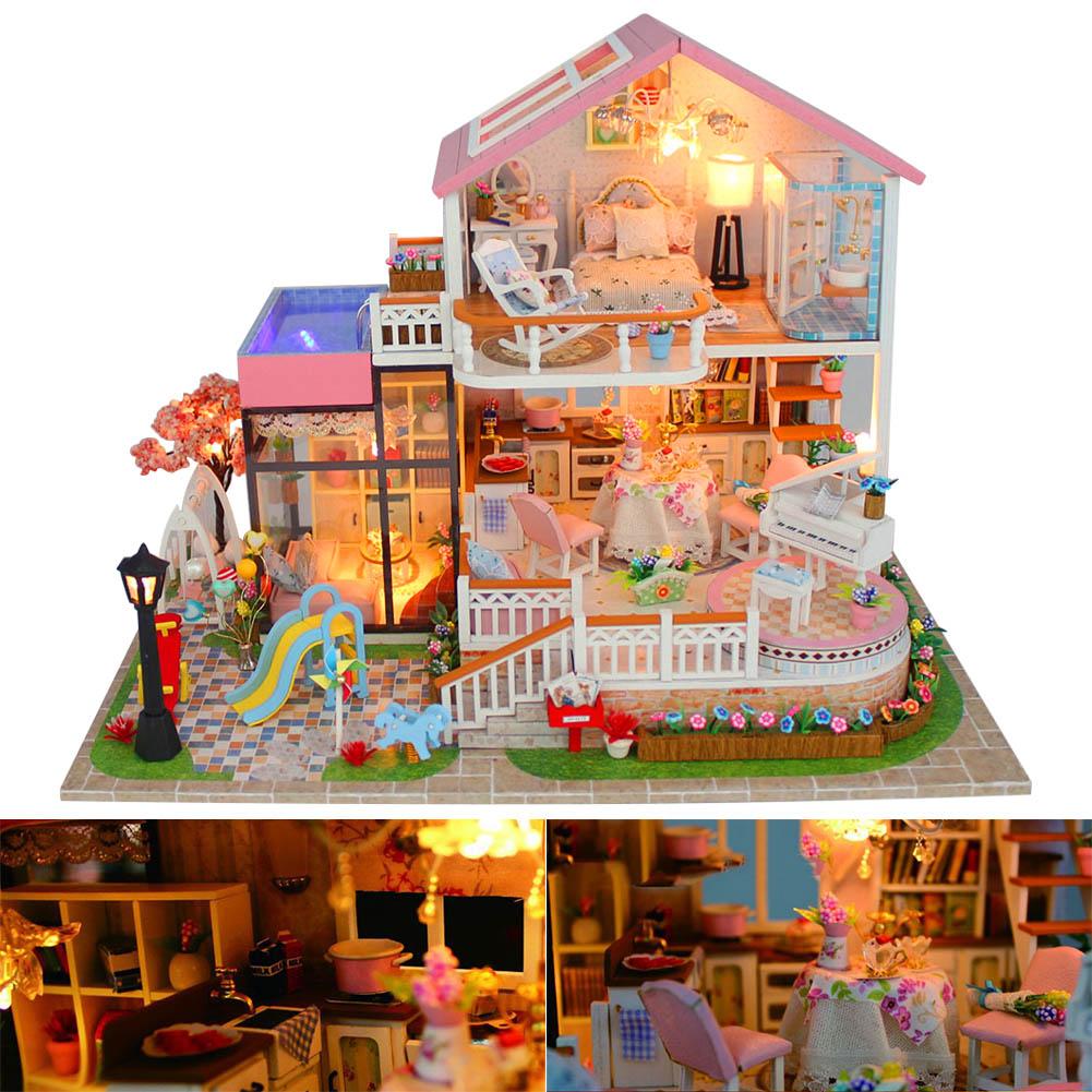 1 pièces maison de poupée bricolage maison modèle 3D assembler jouet cadeau d'anniversaire pour enfants BM88