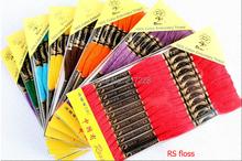 Darmowa dostawa hurtownia 447 kolory RS Rosace bawełna cross stitch nici nici równe DMC nici nici 8 metrów tanie tanio 100 COTTON embroidery thread