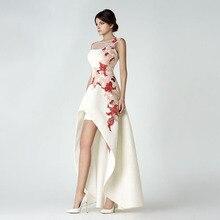 vestido-de-noiva Fashion O Neck Appliqued Beaded Sleeveless