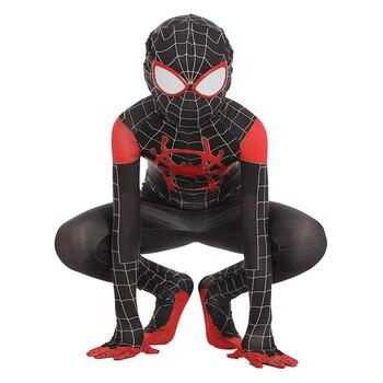 Schwarz Miles Morales Spiderman 3d Drucken Kostum Erwachsene Kinder