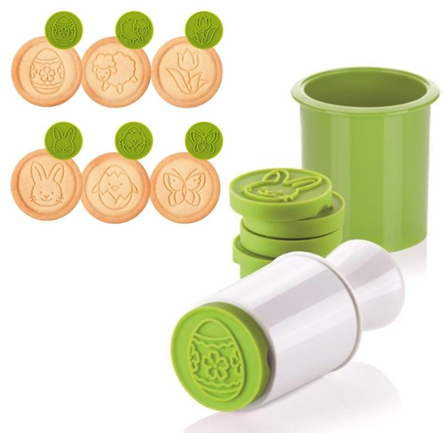 Aliexpress.com : Buy Silicone Cookie stamp with 6 Easter Motifs ...