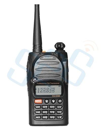 imágenes para Mejor calidad 66-88 mhz wouxun kg-699e de alta potencia de mano radio de dos vías/walkie talkie con pantalla lcd ip55 a prueba de agua