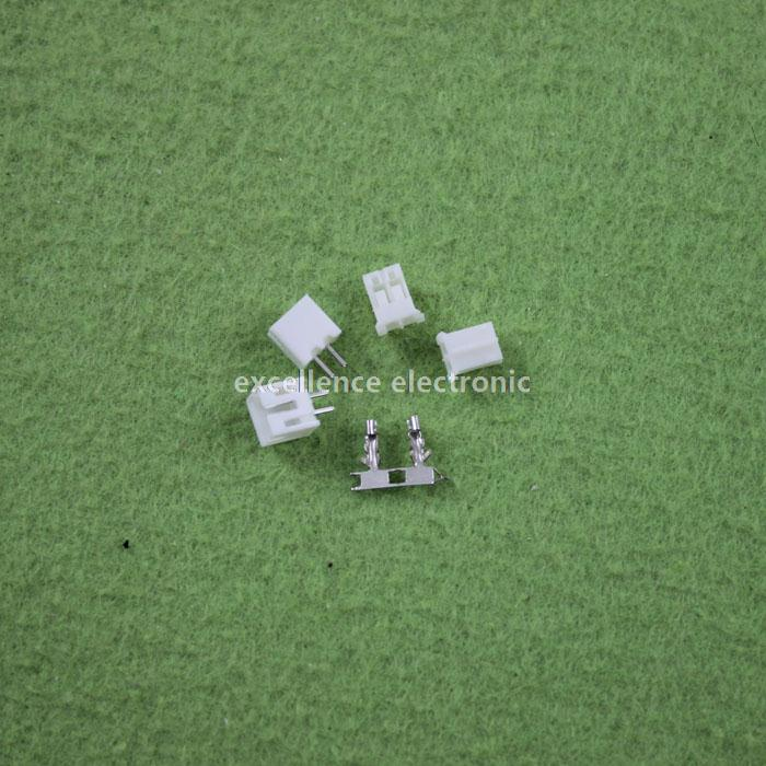 500 Sets, Micro JST 2.0 PH 2-Pin Connector plug Male ,Female, Crimps