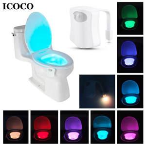ICOCO Led-Night-Light Barthroom Emergency-Lamp Smart Toilet for Home 8-Color Motion-Sensor