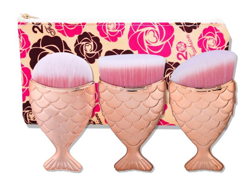 Tesoura de Maquiagem kit escovas do cosmético pincel Usado Com : Kits e Conjuntos