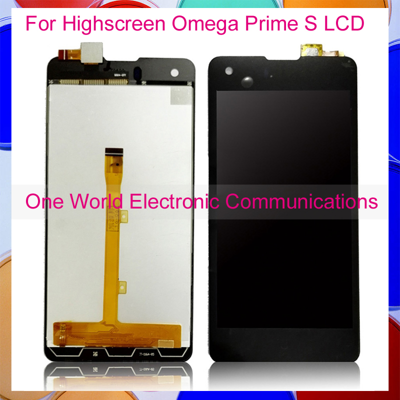 Black 4.7'' New For Highscreen Omega Prime S Full LCD Screen Display Digitizer With Touch Screen Complete Assembly Tracking Code бп atx 450 вт exegate atx 450ppx ex221640rus