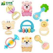 BEI JESS 12Pcs Bed Animal HandBells 0-12 Months Baby Rattle Toys Mobile Teether Early education Toy For Newborn Gifts