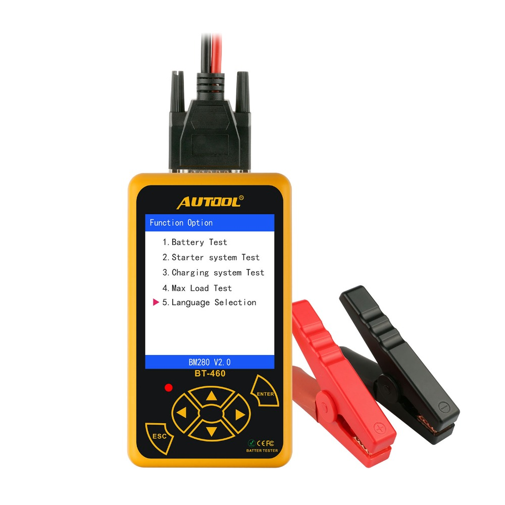 цена на AUTOOL BT-460 Battery Tester Lead-acid AGM GEL Battery Cell Analyzer for 12V Vehicle 24V Heavy Duty 4 TFT Colorful Display