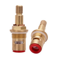 Hot Recommend 0 375KJ HY128 Kitchen Faucet Mixed Spool Quick Opening Angle Valve Copper Spool Manufacturers