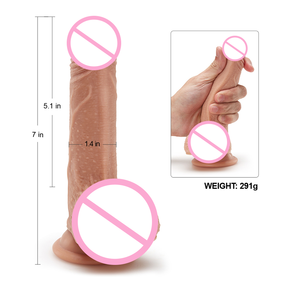 Luvkis 7-9.5 inch Huge Dildo Skin Feeling Realistic Penis Big Dildo Dual-layered Liquid Silicone Sex Toys for Woman Top Grade