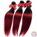 EVET Ombre Virgin Malaysia Straight Hair Weaves Two Tone Silky Straight Human Hair Weavings 1pcs Malaysia Hair Wefts 50g/pcs
