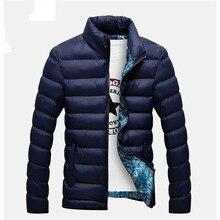 Kurtki zimowe Parka mężczyźni 2020 moda jesień ciepła odzież wierzchnia marka Slim męskie płaszcze Casual kurtki przeciwwiatrowe mężczyźni M 4XL