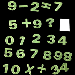 Numbers maths Plastic Sticker Glow In Dark toys for kids gift Home Decor Luminous Fluorescent Education